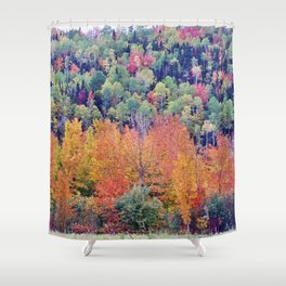 Paint By Nature - Fall Foliage Shower Curtain