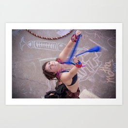 Dancing Hippie Art Print