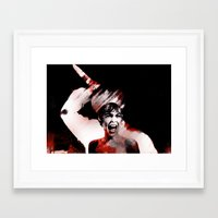 scream Framed Art Prints featuring scream by KrisLeov