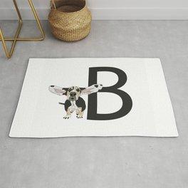 B is for Basset Hound Dog Rug