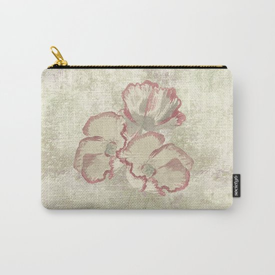 The temple bell stops but I still hear the sound coming out of the flowers. Carry-All Pouch