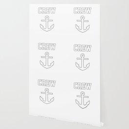 Crew Anchor Nautical Gift Sailing Ship Yacht Design Wallpaper