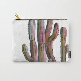 Cactus in green and pink Carry-All Pouch