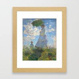 Monet - Madame Monet and Her Son - 1875 Framed Art Print