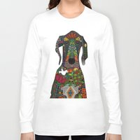 great dane Long Sleeve T-shirts featuring Great Dane love beige by Sharon Turner
