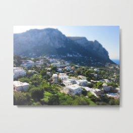 Capri in Minature Metal Print