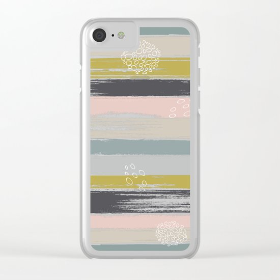 Fragments, Brushstrokes and Circles Clear iPhone Case