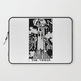 Modern Tarot Design - 16 The Tower Laptop Sleeve