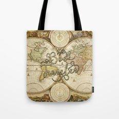Book Traveler Vintage Map v2 Tote Bag