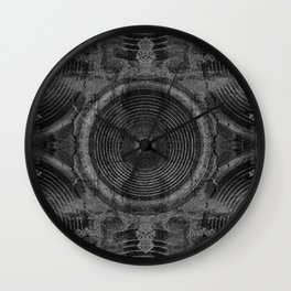 Black and white music speakers Wall Clock