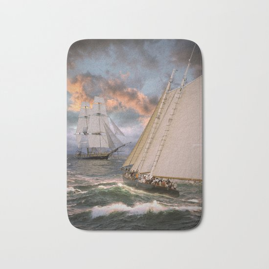SAILING THE SEA Bath Mat