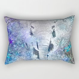ELEPHANT IN THE STARRY LAKE Rectangular Pillow