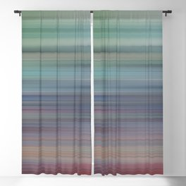 Abstract #11 - Gradation stripe Blackout Curtain