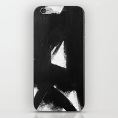No. 92 - Modern abstract black and white textured painting iPhone & iPod Skin