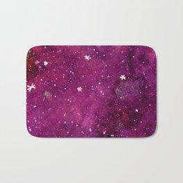 Watercolor galaxy - purple Bath Mat