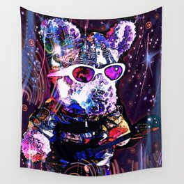 """""""Pinky the Pig's Guitar Solo in Space"""" Wall Tapestry"""