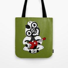 Black and Grey Hei Tiki playing a Ukulele Tote Bag