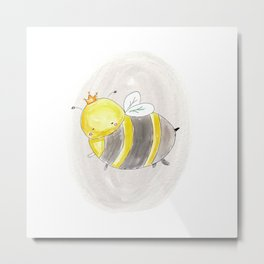 Queen Bee - Soft watercolor illustration Metal Print