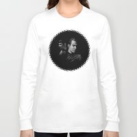 spock Long Sleeve T-shirts featuring Kirk & Spock by Marivi Troy