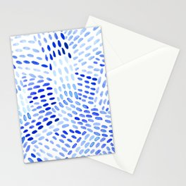 Watercolor dotted lines - blue Stationery Cards