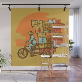 Bike Delivery Wall Mural