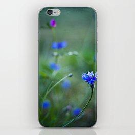 magic blue iPhone Skin