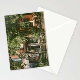 Urban Bicycles Under A Tree Stationery Cards