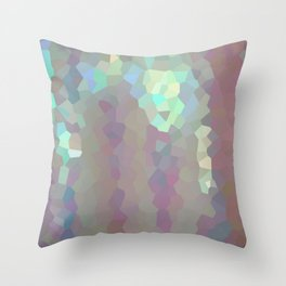 Iridescent Crystal Pattern Throw Pillow