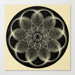 Antique Spiral Geometry Canvas Print