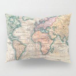Vintage World Map 1801 Pillow Sham