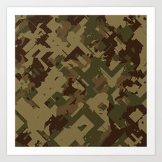 Camouflage Chaos Art Print