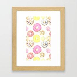 DONUTS--PATTERN Framed Art Print