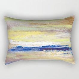 Rock Study in Yellows Rectangular Pillow