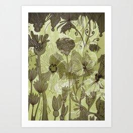 Floral Decay Art Print