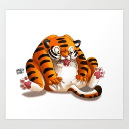 Fat Tiger Art Print