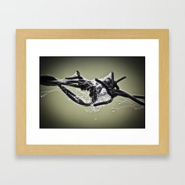A WEB ON WIRE Framed Art Print