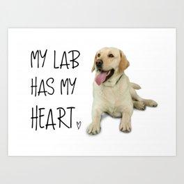 My Labrador Art Print