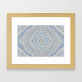 Mild Wavy Lines XI Framed Art Print