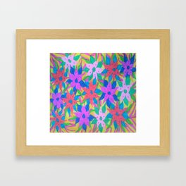 Tropical Rain Flowers Framed Art Print