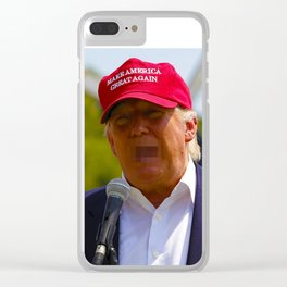 Angry Drumpf Clear iPhone Case
