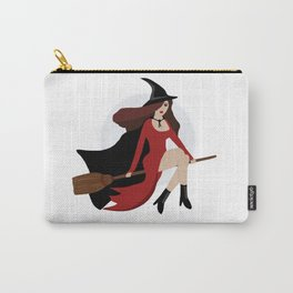 Witch Flying on Broomstick Carry-All Pouch