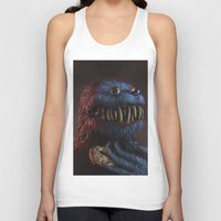 cookie monster Tank Tops featuring Cookie Monster by Adrián Retana