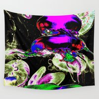 selena Wall Tapestries featuring Space Jellyfish  by LA_Graffiti Decor