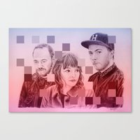 chvrches Canvas Prints featuring CHVRCHES by Cody Rayn
