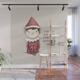 The Elf on The Shelf Wall Mural