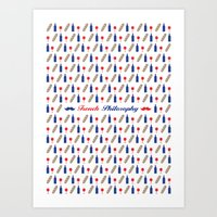 philosophy Art Prints featuring PHILOSOPHY by Necdet Sahin