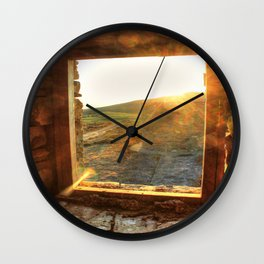 Sunset Window Wall Clock
