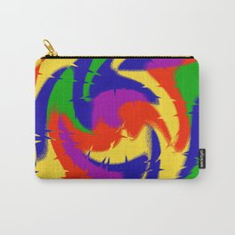 Abstract Red Blue Green & Purple Carry-All Pouch
