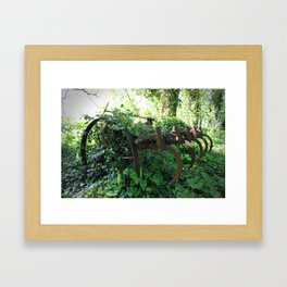 Rusty Relic. Framed Art Print
