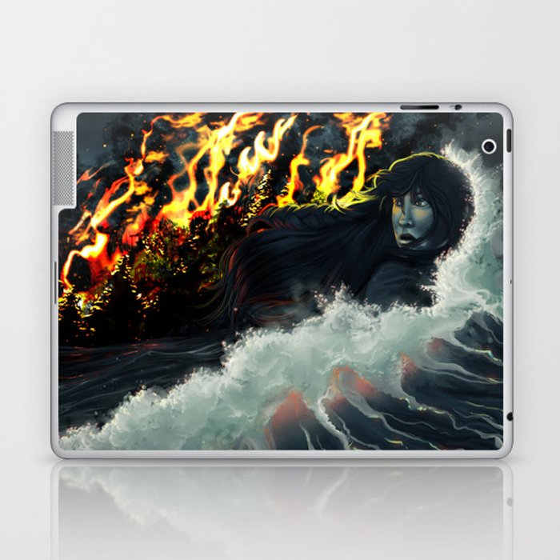 Running to the Sea Laptop & iPad Skin